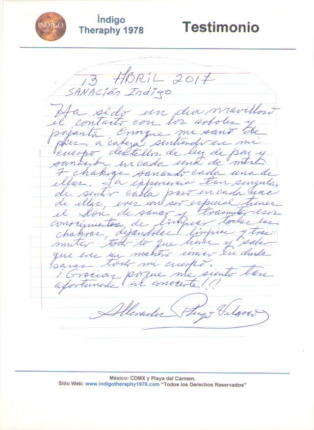 Testimonio 13 Abril 2017