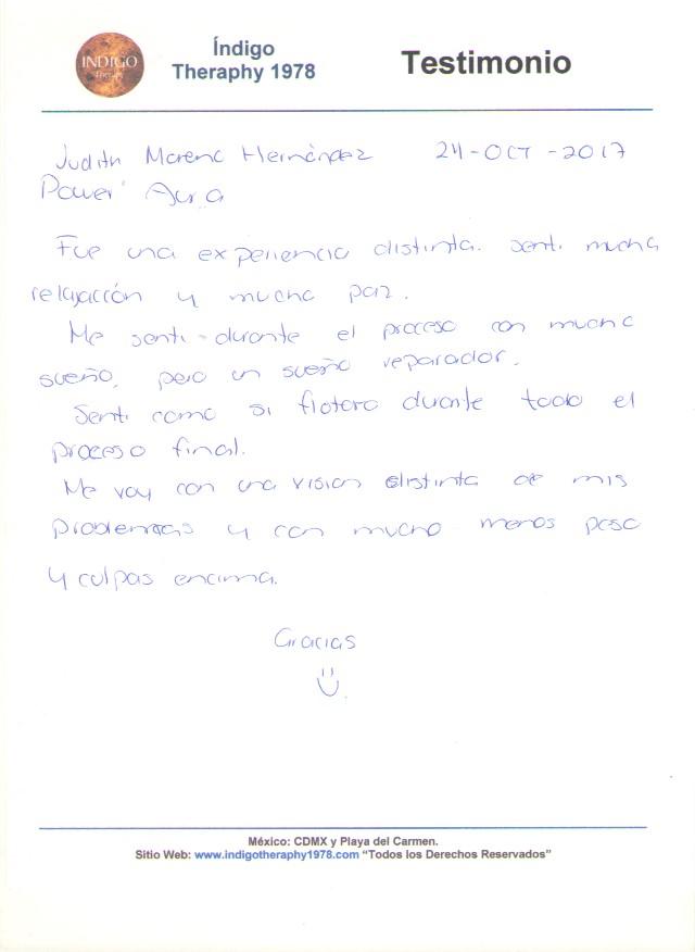 Testimonio 24 Octubre 2017